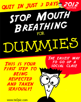Stop Mouth Breathing for Dummies - Book Cover Design